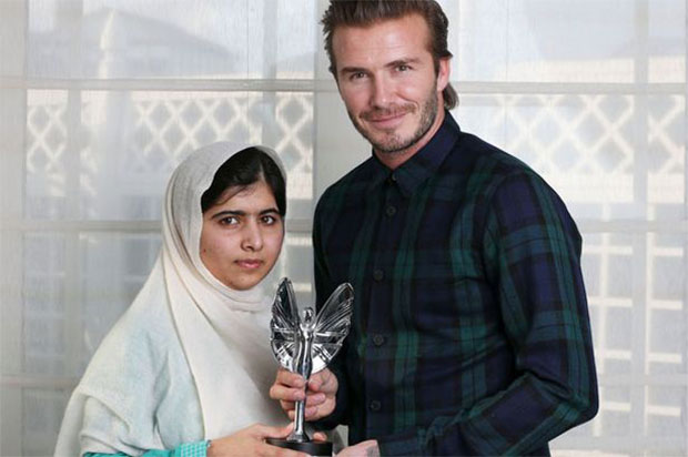 Malala David Beckham Mirror Pride of Britain Award