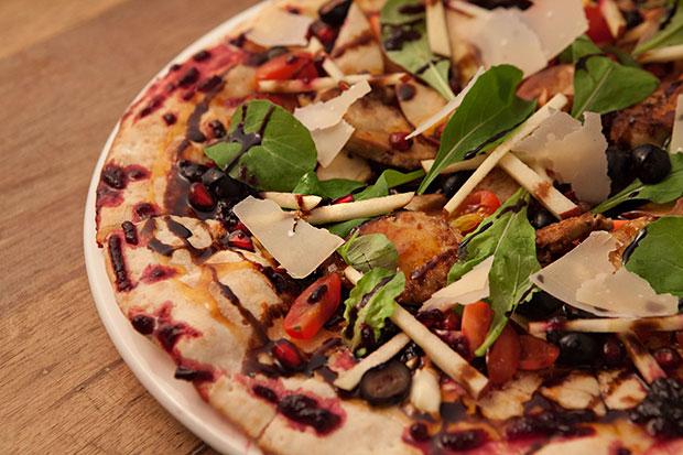 Roasted Apple & Foie Gras Pizza