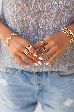 Crystal Parallel Ring Diagon Ring