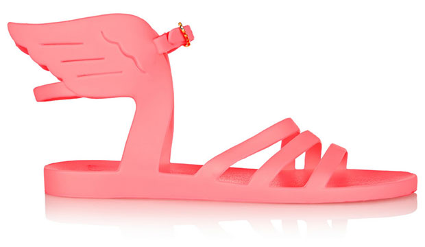Pink Ikaria Rubber Wing Sandals