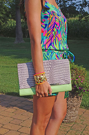 Romper Lilly Pulitzer กำไล Lilly Pulitzer กระเป๋า DVF