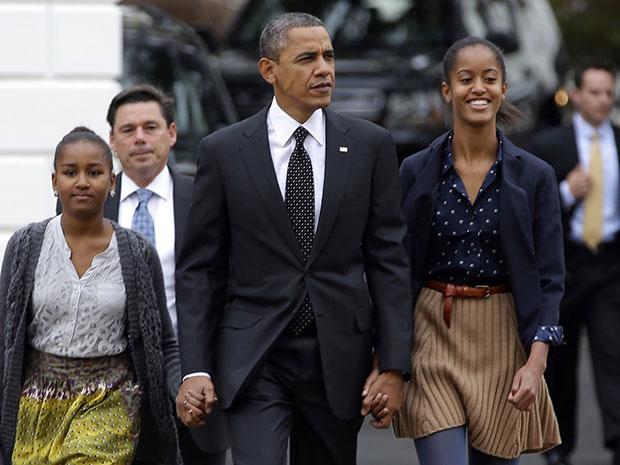 Sasha Obama, Malia Obama ลูกสาว Barack Obama