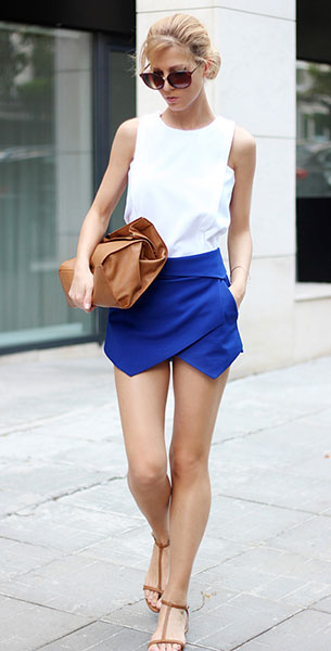 Skort Zara เสื้อแขนกุด Choies กระเป๋า Zara รองเท้า Zara แว่นตากันแดด H&M กำไล  H&M