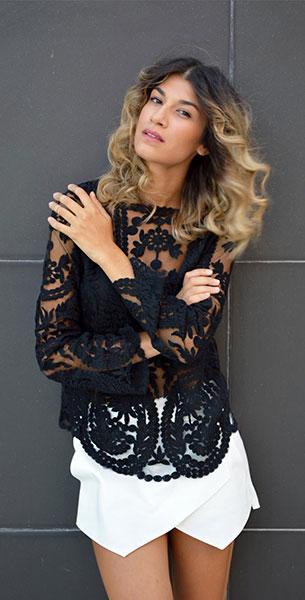 กางเกงกระโปรง Zara เสื้อ Lace รองเท้าบู้ท Aldo กระเป๋า Zara