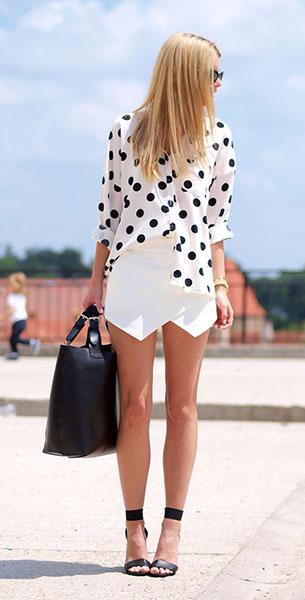 กระโปรงกางเกง Zara เสื้อ NOWiSTYLE รองเท้า H&M กระเป๋า Sheinside แว่นตากันแดด Chanel นาฬิกา Michael Kors