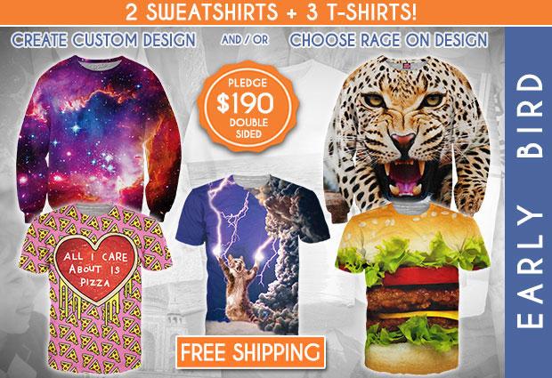 สเว็ตเตอร์หน้าเสือดาว ลายกาแล็กซี่ เสื้อยืดลายแมว ลายแฮมเบอร์เกอร์ รูปหัวใจ