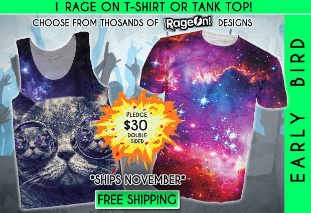 เสื้อกล้ามหน้าแมว เสื้อยืดลายกาแล็กซี่