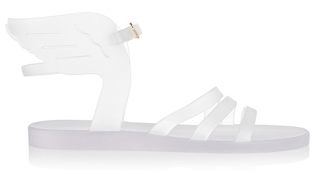 White Ikaria Rubber Wing Sandals