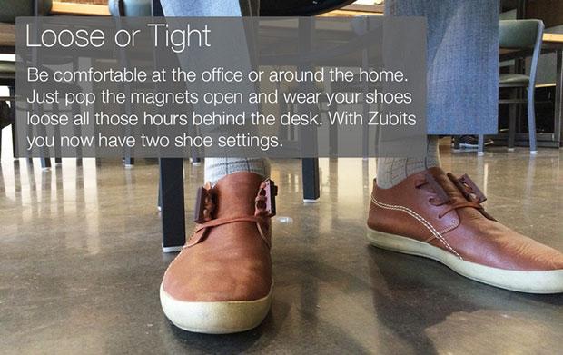 Zubits ผูกเชือกรองเท้าด้วยแม่เหล็ก คลายให้ลวมได้