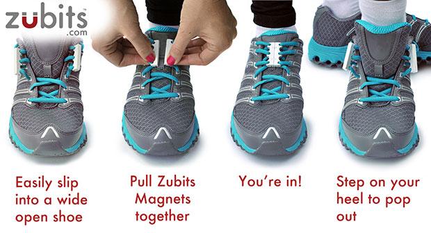 Zubits ผูกเชือกรองเท้าด้วยแม่เหล็ก วิธีใช้