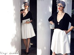 กระโปรงหนัง OASAP, กระเป๋า DressWE, เสื้อ StyleMoi