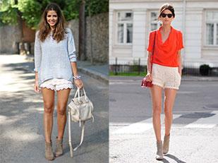 กางเกงขาสั้นลายลูกไม้ Lace Shorts