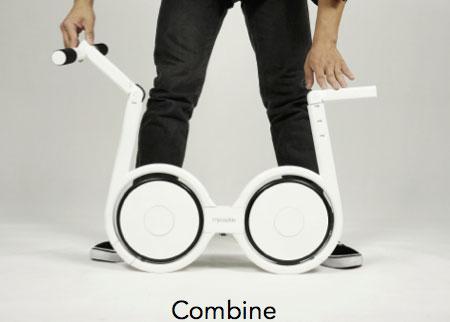 จักรยานไฟฟ้าแบบพับ กางแฮนด์ กางที่นั่ง