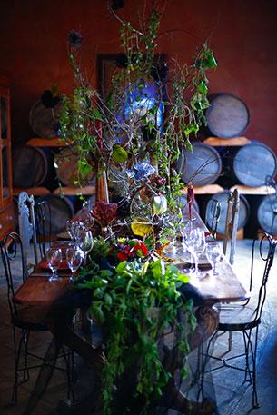 ถ่ายภาพแต่งงาน ธีม Maleficent โต๊ะอาหาร