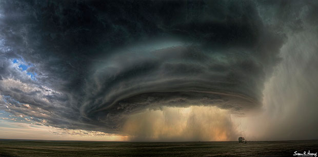 ภาพถ่าย เมฆพายุมหึมา Supercell Montana