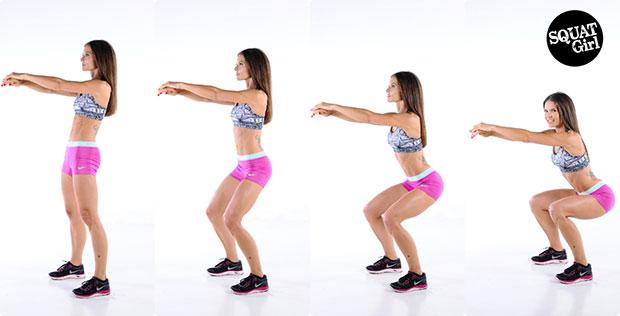 วิธีออกกำลังกายง่ายๆ ออกกำลังกายท่าสควอท
