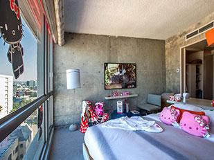 ห้องพักโรงแรม Hello Kitty