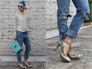 เสื้อ H&M, กางเกงยีนส์ Bibi, กระเป๋า Laddu, รองเท้า Vintage