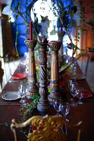โต๊ะอาหาร ถ่ายภาพแต่งงาน ธีมมาเลฟิเซนท์