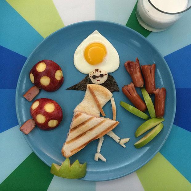 Food Art ผู้หญิงเต้น เห็ด