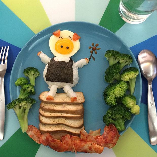 Food Art หมูแม่บ้าน