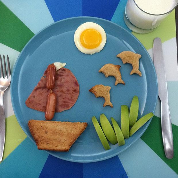 Breakfast Ideas เรือ ปลาโลมา