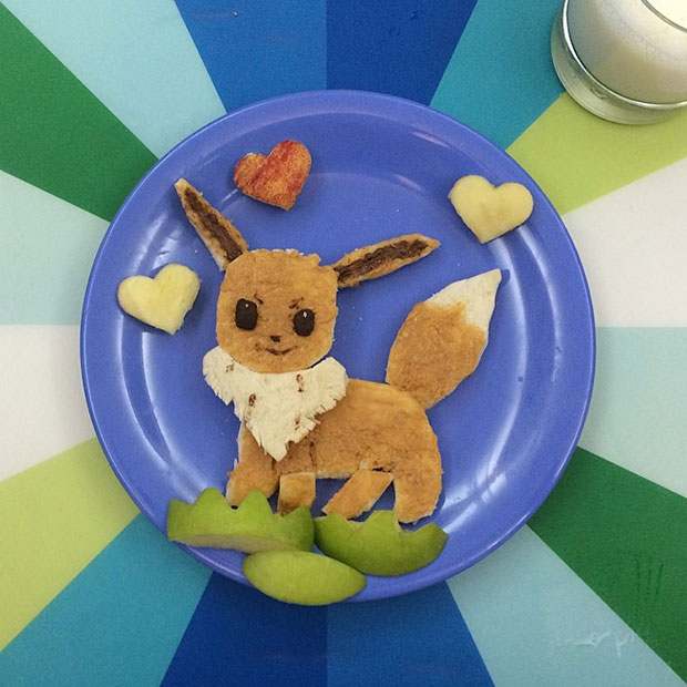 Food Art Eevee  Pokemon