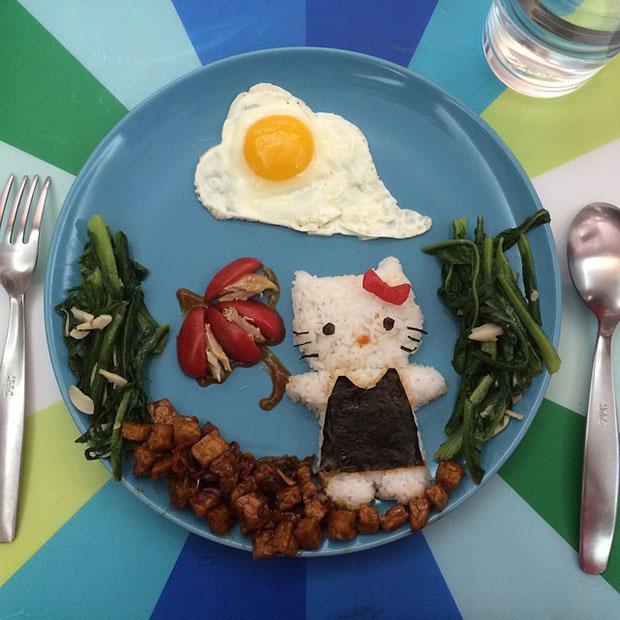 Food Art Hello Kitty