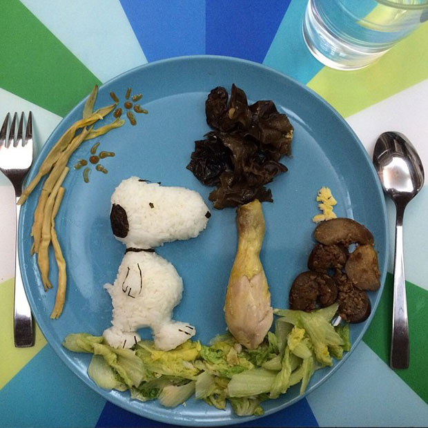 Food Art Snoopy