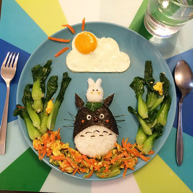 Food Art Totoro
