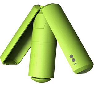 Sitpack เก้าอี้แบบพกพา สีเขียวนีออน