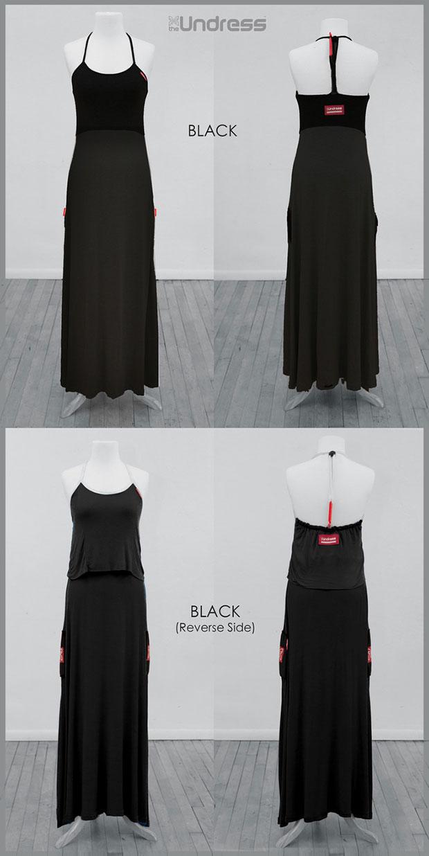 เสื้อคลุมสำหรับเปลี่ยนเสื้อผ้า สีดำ