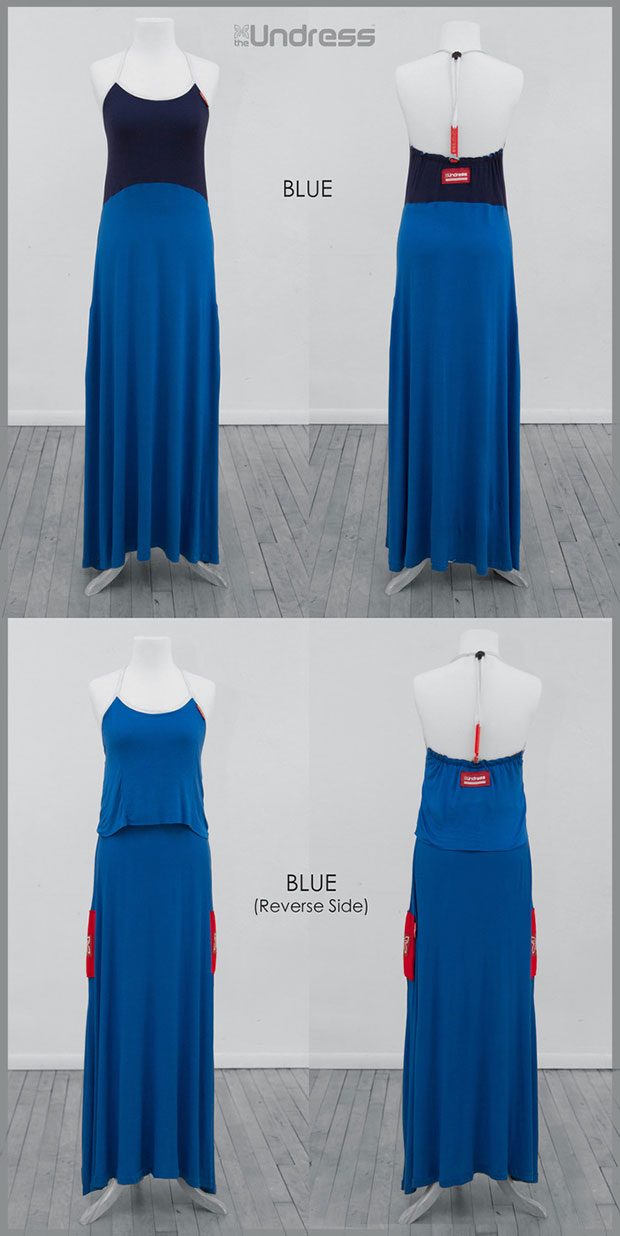 เสื้อคลุมสำหรับเปลี่ยนเสื้อผ้า สีน้ำเงิน