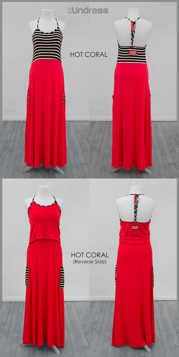 เสื้อคลุมสำหรับเปลี่ยนเสื้อผ้า สีแดง