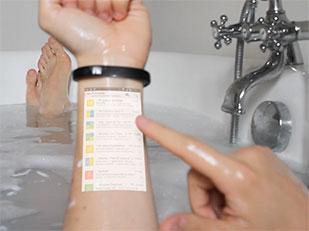 กำไลเปลี่ยนแขนเป็นสมาร์ทโฟนทัชสกรีน Cicret