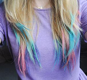 ชอล์กเปลี่ยนสีผม สีฟ้า ชมพู ม่วง ผมบลอนด์