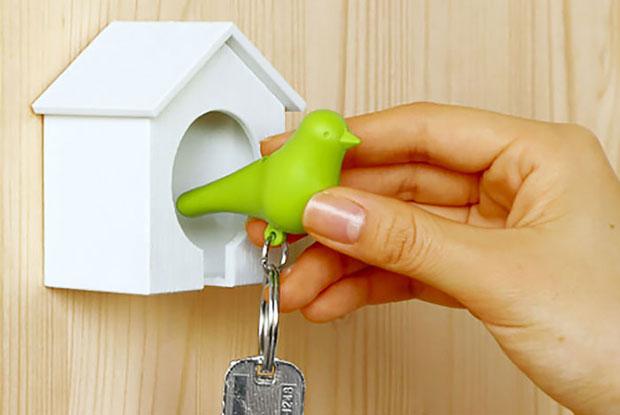 ที่แขวนกุญแจบ้านนก