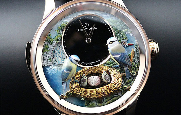 นาฬิกาหนัาปัดรูปนกนูน