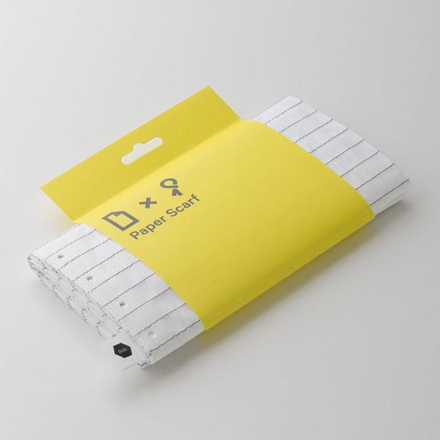 ผ้าพันคอรูปกระดาษจดบันทึก Paper Scarf