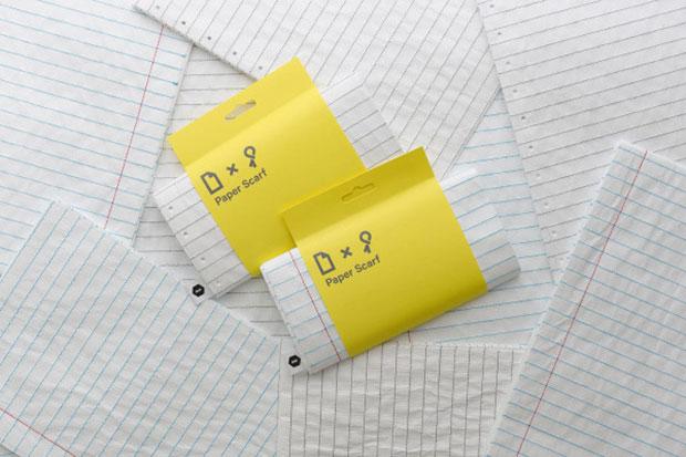 ผ้าพันคอรูปกระดาษโน๊ต Paper Scarf