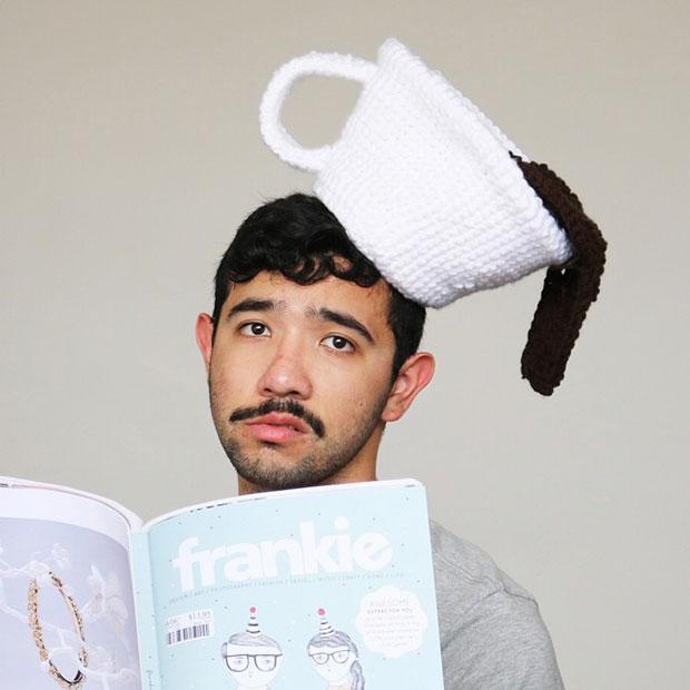 หมวกโครเชต์ กาแฟหก