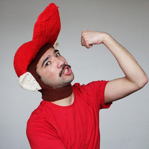 หมวกโครเชต์ ดองกี้คอง