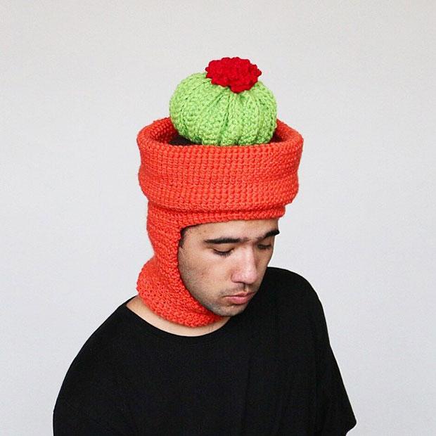 หมวกโครเชต์ ตะบองเพชร
