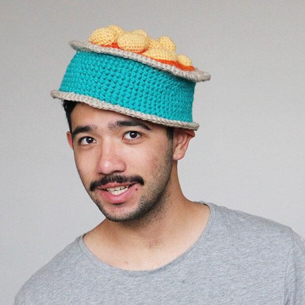หมวกโครเชต์ ถั่ว
