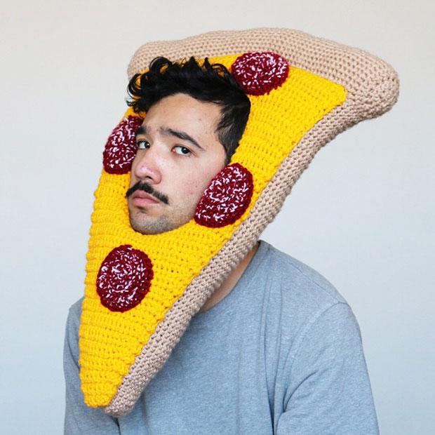 หมวกโครเชต์ พิซซ่า