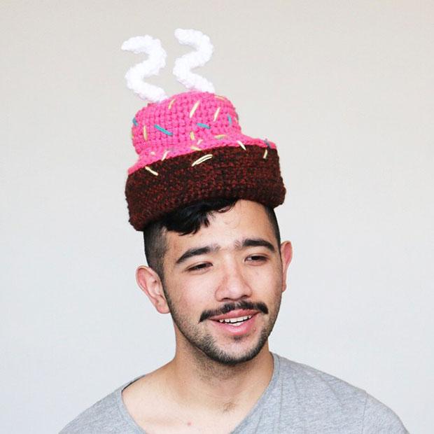 หมวกโครเชต์ เค้ากวันเกิด