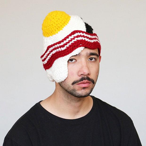 หมวกโครเชต์ ไข่ดาว