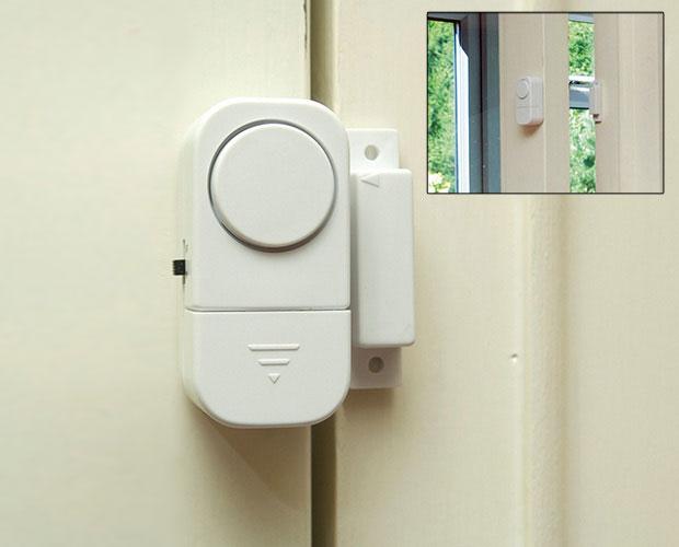 อุปกรณ์ป้องกันเหตุร้าย สัญญาณกันขโมยติดประตูแบบแม่เหล็ก