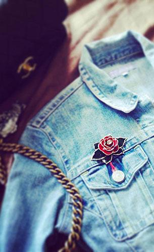 เข็มกลัด ดอกกุหลาบ