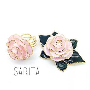 แหวน ดอกกุหลาบ สีชมพู
